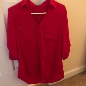 Express Portofino Shirt- Red size medium